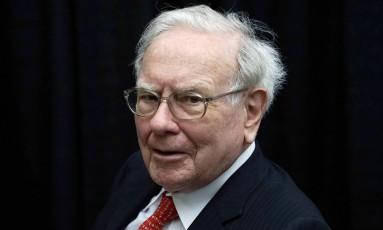 Warren Buffett em encontro de acionistas da Berkshire em 2015. Rick Wilking/Reuters