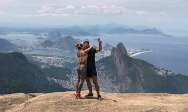 Diego e a mulher, Bruna Letícia Foto: Reprodução