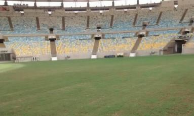 O gramado do Maracanã Foto: Divulgação