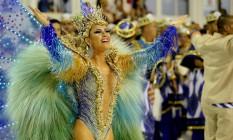 Carnaval 2017 / União da Ilha - Desfile das Escolas de Samba do Grupo Especial - Tânia Oliveira, rainha de bateria Foto: Márcio Alves / Agencia O Globo