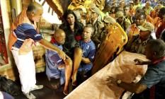 Carro que apresentou problema representa a cidade de Nova Orleans, nos Estados Unidos, e fala sobre a história do jazz Foto: Pablo Jacob / Agência O Globo