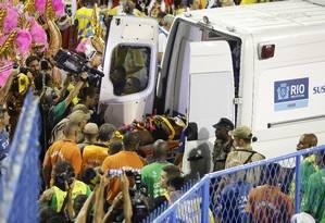 Acidente no segundo carro da Tijuca Foto: Fábio Rossi / Agência O Globo