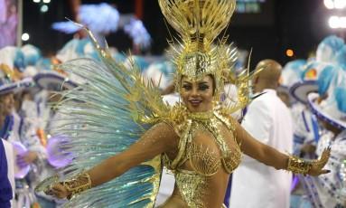 Bianca Monteiro, rainha de bateria da Portela Foto: Márcio Alves / Agência O Globo