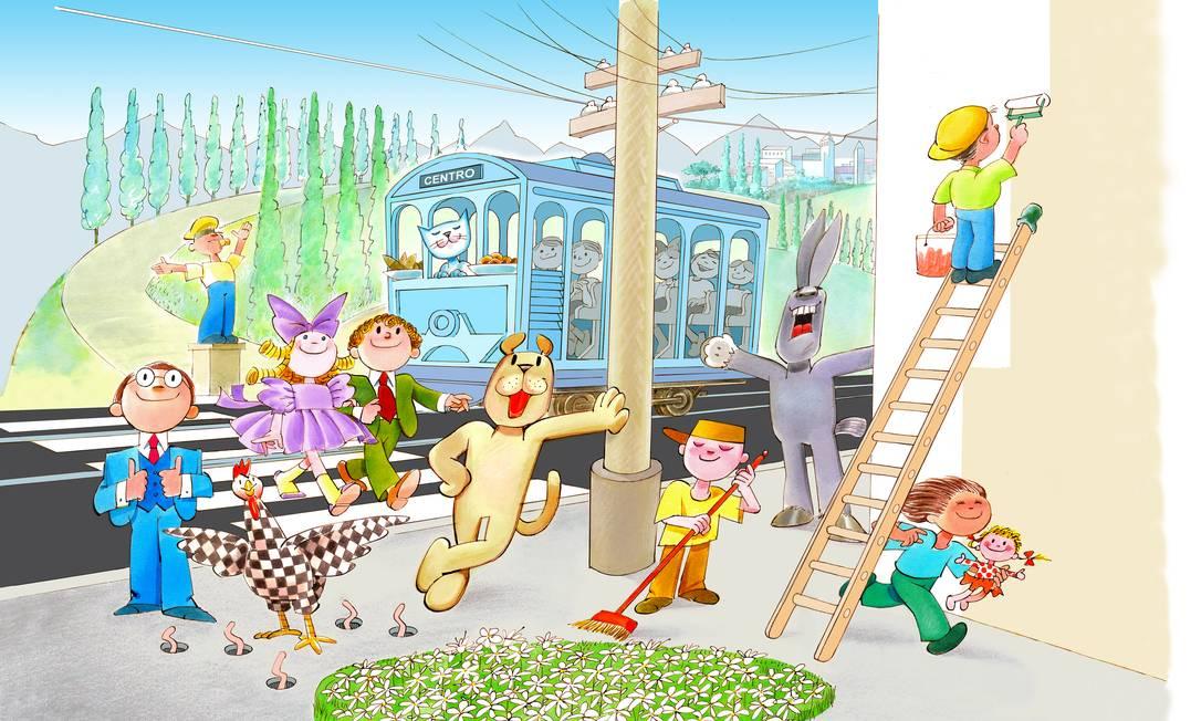 Ilustração de Ziraldo para 'Os Saltimbancos' Foto: / Reprodução