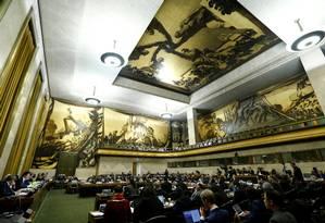 Chanceler sul-coreano defendeu suspensão da Coreia do Norte durante conferência em Genebra Foto: DENIS BALIBOUSE / REUTERS