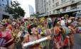 Carnaval de Rua - Bloco Vem Cá minha Flor Foto: Marcia Foletto / Agência O Globo