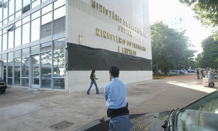Sede do Ministério do Trabalho e Emprego Foto: Givaldo Barbosa / Agência O Globo
