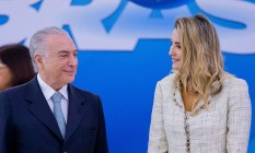 Presidente Michel Temer e a primeira dama, Marcela Foto: Jorge William / Agência O Globo