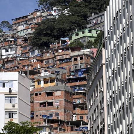 O Morro Pavão-Pavãozinho, onde ocorreu o tiroteio Foto: Marcelo Carnaval / Agência O Globo / Arquivo
