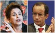 A ex-presidente Dilma Rousseff e o empresário Marcelo Odebrecht Foto: Montagem sobre fotos da AFP e Agência O Globo