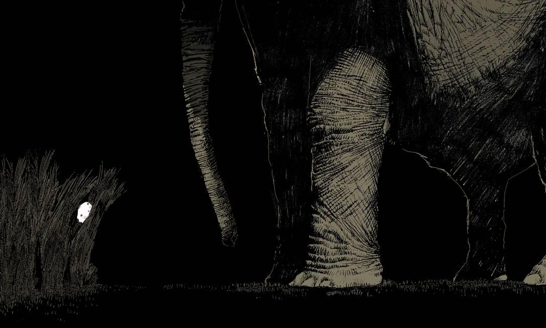"""NOTURNO. Ilustração do livro """"Escondida"""" (2017) Foto: Jean-Claude Alphen / Reprodução"""