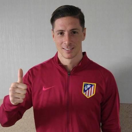 Atlético publicou imagem de Fernando Torres após o atacante deixar o hospital Foto: Divulgação/Atlético de Madrid