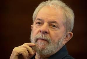 O ex-presidente Luíz Inácio Lula da Silva Foto: Marcos Alves / Agência O Globo / 7-11-2016