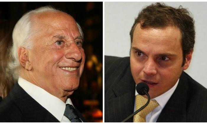 O advogado José Yunes (à esq.) e o doleiro Lúcio Funaro Foto: Montagem sobre fotos