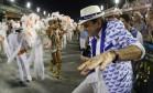 """O ex-prefeito no desfile do ano passado: """"Foi bom a Portela ganhar depois da minha saída. Era capaz de falarem que eu tinha armado"""" Foto: Marcelo Theobald / Agência O Globo"""