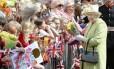 Rainha Elizabeth durante a celebração dos seus 90 anos, em 2016