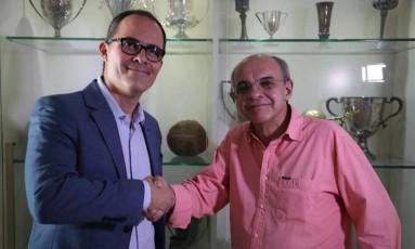 Pedro Abad e Eduardo Bandeira de Mello Foto: Divulgação/Fluminense FC