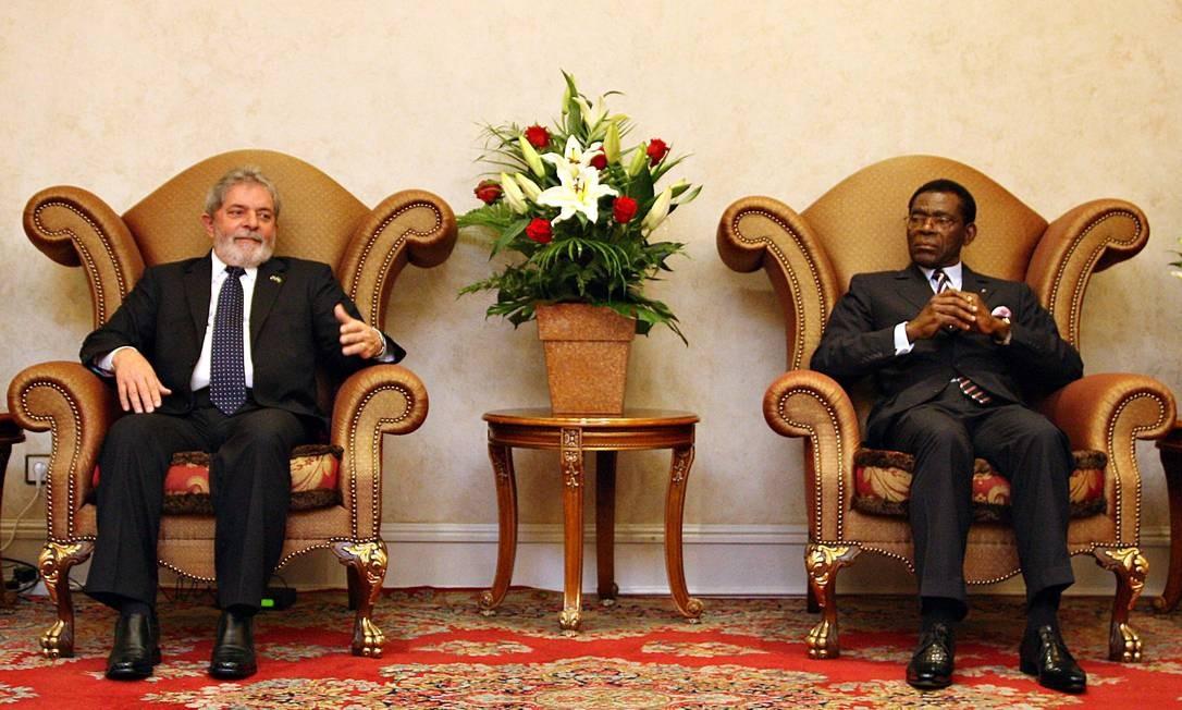 GUINÉ EQUATORIAL. Custo anual da embaixada brasileira: R$ 6,27 milhões.   Lula foi até Malabo, capital do país africano, para encontrar o presidente Obiang Nguema Mbasogo, em 5 de julho de 2010. Foto : Ricardo Stuckert/PR Foto: Ricardo Stuckert / PR