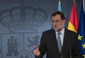 O primeiro-ministro espanhol Mariano Rajoy Foto: CURTO DE LA TORRE / AFP