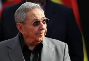 Presidente de Cuba, Raul Castro, participa de cúpula que marcou quatro anos da morte de Hugo Chávez Foto: CARLOS GARCIA RAWLINS / REUTERS