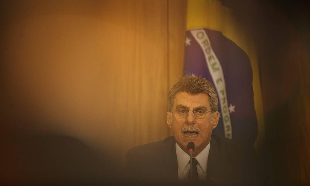 Romero Jucá (PMDB-RR), novo líder do governo no Senado Foto: Daniel Marenco / Agência O Globo