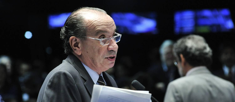 O ministro das Relações Exteriores, Aloysio Nunes Ferreira, quando exercia o mandato de senador Foto: Geraldo Magela / Agência Senado