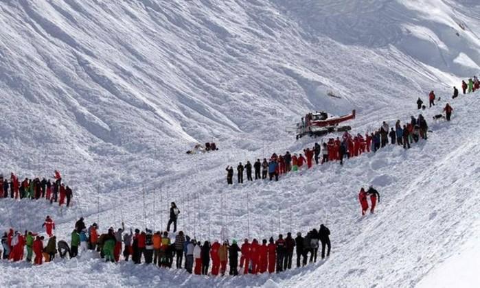 Avalanche nos Alpes não passou de um susto sem vítimas — Vídeo