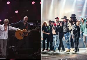 The Who e Guns N' Roses tocam no mesmo dia no Rock in Rio Foto: Divulgação