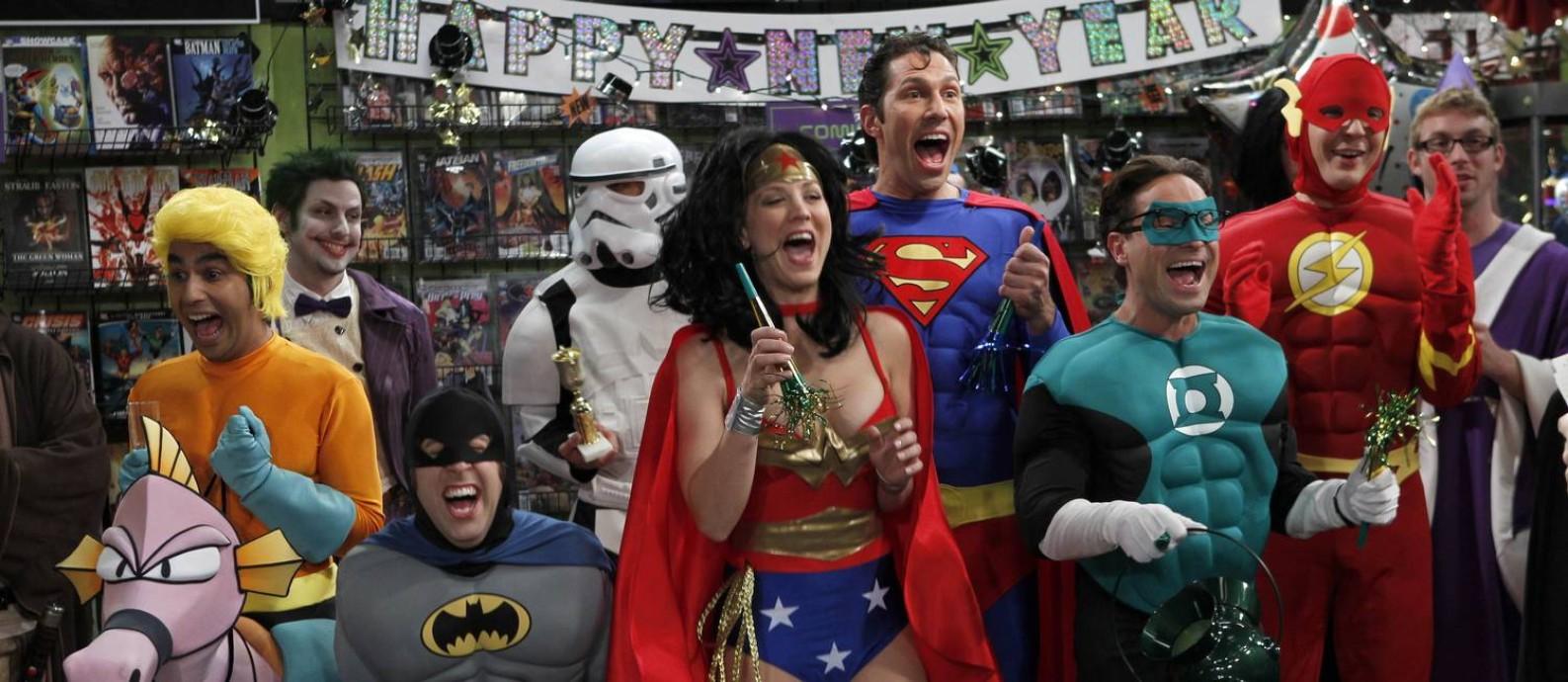 Cena de The Big Bang Theory (Warner Channel), cujos atores participaram do Comic Con 2011. Foto: Divulgação