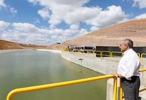 O presidente Michel Temer visita trecho de obra da transposição do rio São Francisco Foto: Beto Barata/Presdiência