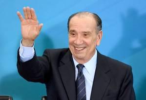 Novo chanceler do Brasil, o ministro das Relações Exteriores, Aloysio Nunes Ferreira Foto: EVARISTO SA / AFP