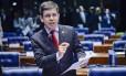 O senador Randolfe Rodrigues (Rede-AP), durante pronunciamento no Senado
