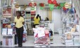 Loja quase vazia no Rio de Janeiro