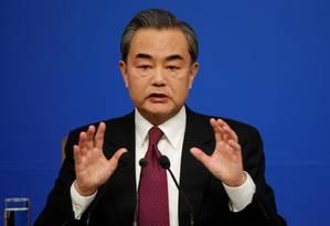 Chanceler chinês, Wang Yi Foto: Reuters