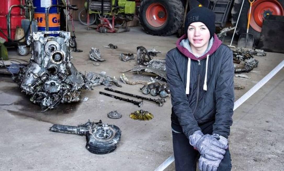 Daniel Rom Kristiansen encontrou destroços de um avião na fazenda da família Foto: REUTERS