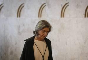 A Ministra Carmen Lucia, Presidente do STF Foto: André Coelho / Agência O Globo