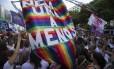 O protesto de mulheres no Centro do Rio
