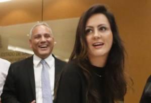 """A advogada Pricila Menin no lançamento do livro """"A mulher na política, uma história de conquistas"""" Foto: Marcos Alves/Agência O Globo"""