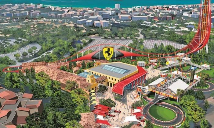 Para os fãs da Ferrari Foto: Projeção/Portaventura World