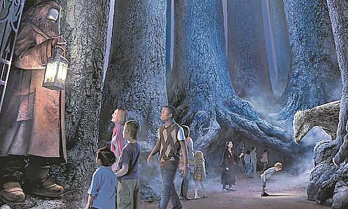 A floresta de Harry Potter Foto: Projeção/Warner Bros Studios Tour London