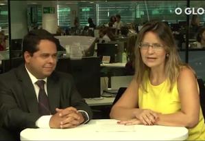 Antonio Gil Franco, sócio de Impostos da EY, e a repórter Lucianne Carneiro Foto: Reprodução