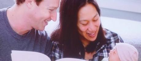 Mark Zuckerberg e Pricilla Chan com a primogênita do casal Foto: REUTERS