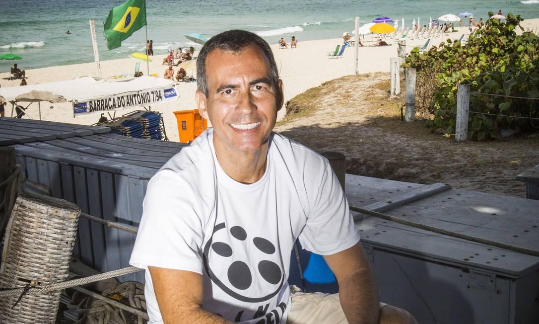 Idealizador. Em junho, Júnior Brasil levará o projeto para outros locais Foto: Agência O Globo / Barbara Lopes