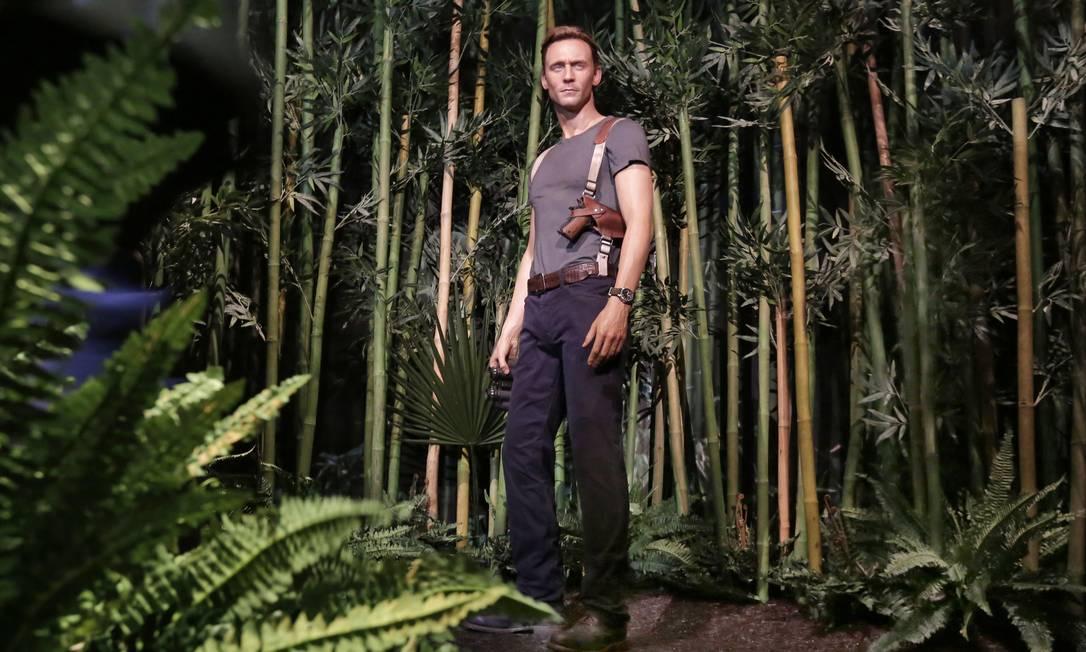 """O ator inglês Tom Hiddleston como o Capitão James Conrad: papel em """"King Kong"""" é o primeiro como protagonista Foto: Richard Drew / AP"""