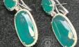 Brincos de diamantes recolhidos na casa de Cabrak