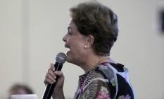 Em 2015, a então presidente Dilma Rousseff faz discurso em João Pessoa Foto: Hans Von Manteuffel / O Globo