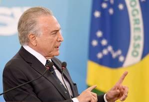 Presidente da República, Michel Temer Foto: EVARISTO SA / AFP