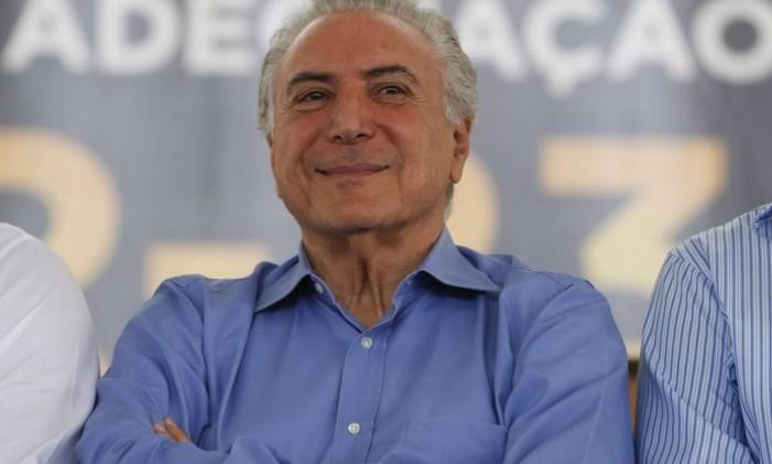 O presidente Michel Temer Foto: Beto Barata / Agência O Globo