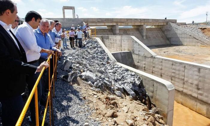 Michel Temer participa de cerimônia de abertura da comporta do Reservatório de Campos Foto: Divulgação PR/ Beto Barata