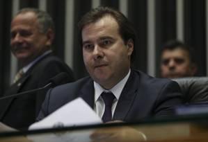 O presidente da Câmara dos Deputados, Rodrigo Maia (PMDB-RJ) Foto: Ailton de Freitas / Agência O Globo